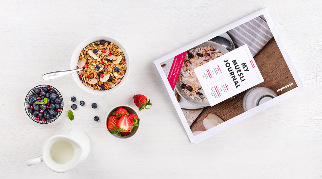 mymuesli journal, first issue for the Netherlands, the perfect reading material for breakfast
